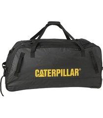 bolso con carro negro cat rolling duffel