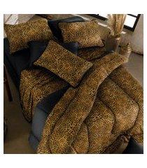jogo de cama king 3 peças malha 100% alg. 120g/m² fio penteado - appel home - congo
