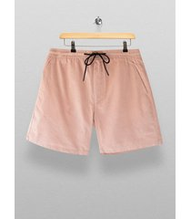 mens pink corduroy pull on shorts