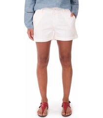 shorts side walk shorts tecido branco - branco - feminino - dafiti