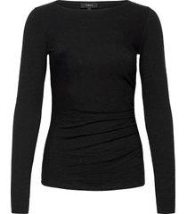 boat nk top.nebulous t-shirts & tops long-sleeved zwart theory