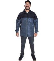 jaqueta carbella casaco microtel acolchoado inverno cinza detalhe preto