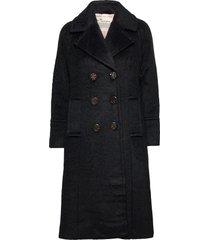 andrea jacket wollen jas lange jas zwart odd molly