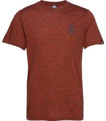 pacific solid merino wool tee t-shirts brun bula