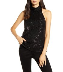 women's chelsea28 high neck sequin halter top