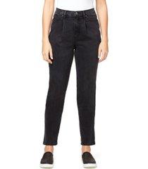 gloria vanderbilt women's super high rise drifter pleated jeans
