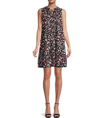 calvin klein women's floral tiered dress - red multicolor - size 8