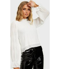 nly trend ruched blouse festblusar