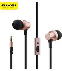 audífonos bluetooth manos libres inalámbricos, auriculares estéreo awei 910i auriculares con micrófono cancelación de ruido (oro rosa)