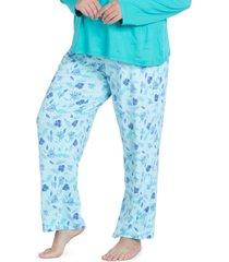 muk luks plus size cool girl printed pajama pants
