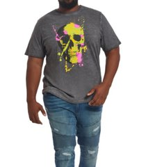 mvp collections men's big & tall neon skull t-shirt