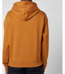 kenzo men's logo classic hooded sweatshirt - dark beige - xl