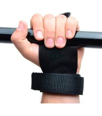 luva hand grip yangfit couro para pull up - preto . - preto - dafiti