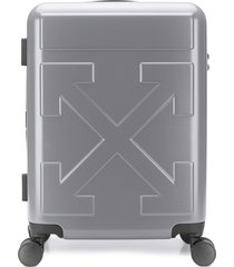 off-white arrows quote carry-on - grey