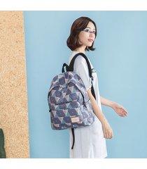 mochila femenina han chao college viento bolsa de-gris