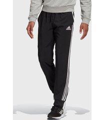 pantalón adidas performance m 3s wv tc pt negro - calce regular
