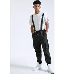 liguero casual multibolsillos de moda para hombre carga pantalones