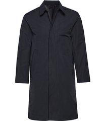 joshua mac cotton trenchcoat lange jas blauw j. lindeberg