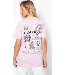 cancer sterrenbeeld t-shirt met rugopdruk, lilac