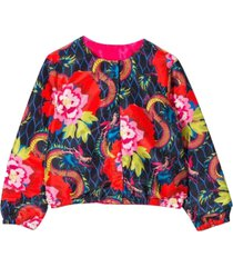 kenzo floral jacket in synthetic fiber