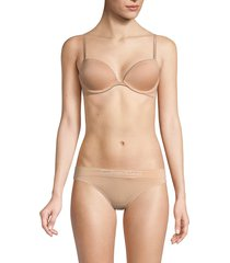 calvin klein women's constant push-up bra - bare - size 38d