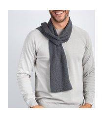 manta masculina de malha chenille sumaré 10443 - chumbo cinza