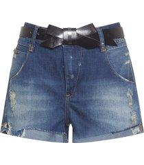short feminino jeans bug - azul