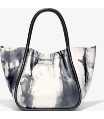 proenza schouler small tie dye ruched crossbody tote 8093 optic white/black one size