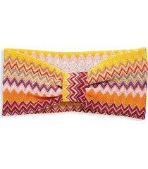missoni women's multicolored chevron headband - pink multi