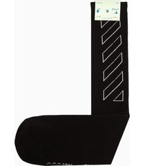 off-white diag outline mid length socks omra0001f21kni01