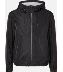 mackage men's oren-r hooded jacket - black - xxl