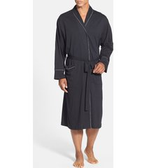 men's daniel buchler peruvian pima cotton robe, size medium/large - black