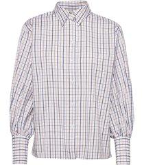 short blouse with rounded sleeve overhemd met lange mouwen ivy & oak