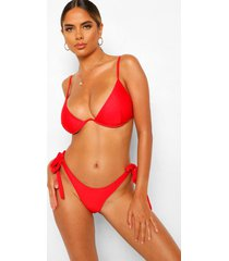 essentials bikini met volle cup en v-inkeping, rood