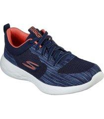 zapatos mujer  go run 600 - nimble azul skechers