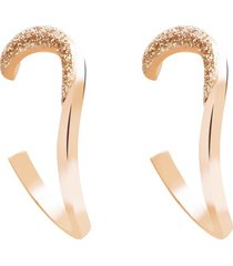 orecchini in ottone bronzato e glitter bronzo per donna