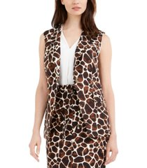 calvin klein giraffe-print sleeveless vest