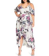 plus size women's city chic english garden maxi dress