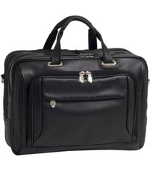 mcklein west loop expandable double compartment briefcase