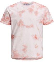 jack & jones men's cotton tie dye crew neck short sleeve t-shirt