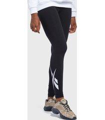calza reebok cl f vector legging negro - calce ajustado