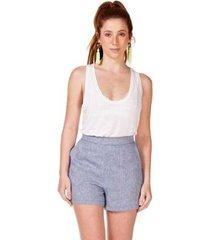 shorts serinah curto de linho feminina