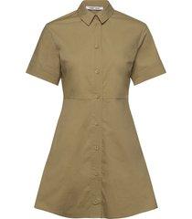 barbara short dress 10783 kort klänning grön samsøe samsøe