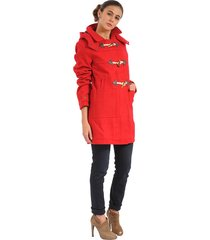 chaqueta color siete para mujer-rojo
