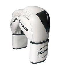 luva de boxe premium 12 oz branco iron arm