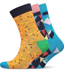happy birthday gift box underwear socks regular socks multi/mönstrad happy socks