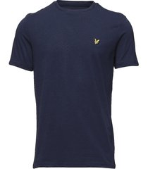crew neck t-shirt t-shirts short-sleeved blå lyle & scott