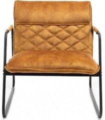 fotel vintage mustang aksamit musztardowy