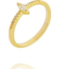 anel solitário dona diva semi jóias navete feminino