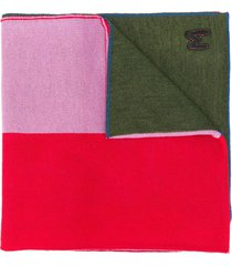 m missoni colour-block panel scarf - blue